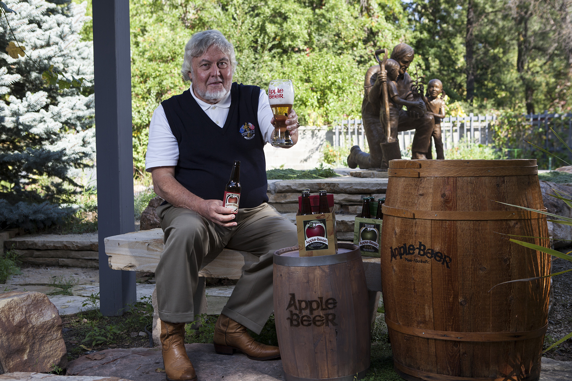Apple Beer. Portrait of President and Ceo Larry Stillman